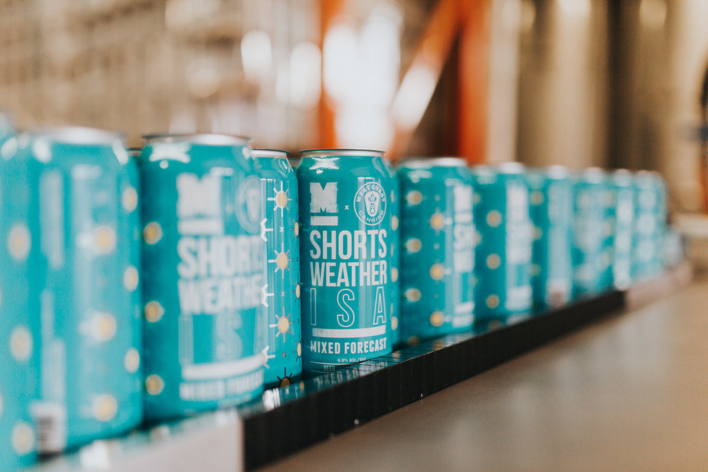 Craft beer cans designed by West Coast Canning for a mobile canning collaboration with Moody Ales, Port Moody.