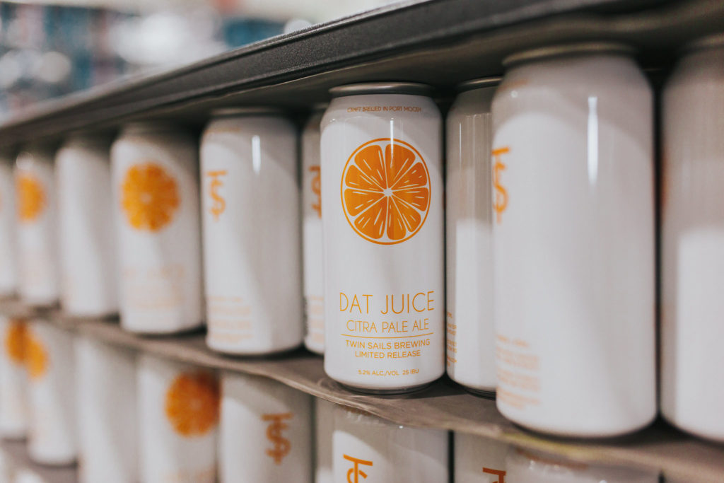 Twin Sails Shrink sleeved cans. Shrink sleeving and canning by West Coast Canning