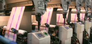 flexographic printing press for shrink sleeve can labels